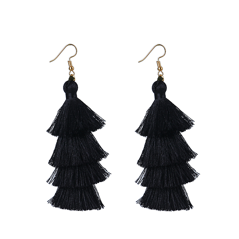 d261d45121979d Feature: silk tassel earrings , layered tassel earrings , tier tassel  earrings , ombre tassel earrings