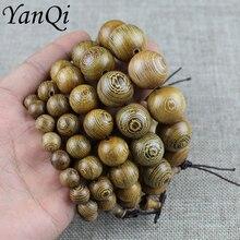 Yanqi עוף כנף עץ בודהיסטי תפילת חרוזים טיבטי Mala בודהה צמיד מחרוזת עץ צמיד נשים גברים תכשיטי pulseira