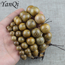 Yanqi chicken wing wood Buddhist Prayer Beads Tibetan Mala Buddha Bracelet Rosary Wooden Bangle women men jewelry pulseira