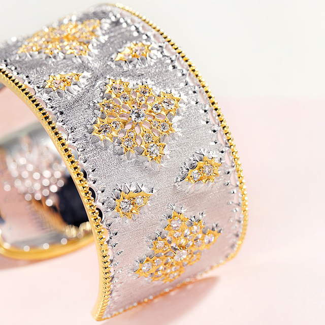 Sterling Silver European Court Style zircon Bracelet