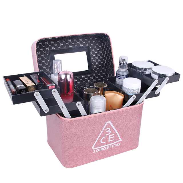 fb11c43a1e4e US $44.23 21% OFF|JULY'S SONG Women Folding Multilayer Professional Large  Capacity Makeup Box Waterproof Cosmetic Organizer Portable Storage Case-in  ...