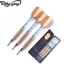 3PC Darts Professional 18g Yellow Blue Soft Tip Electronic