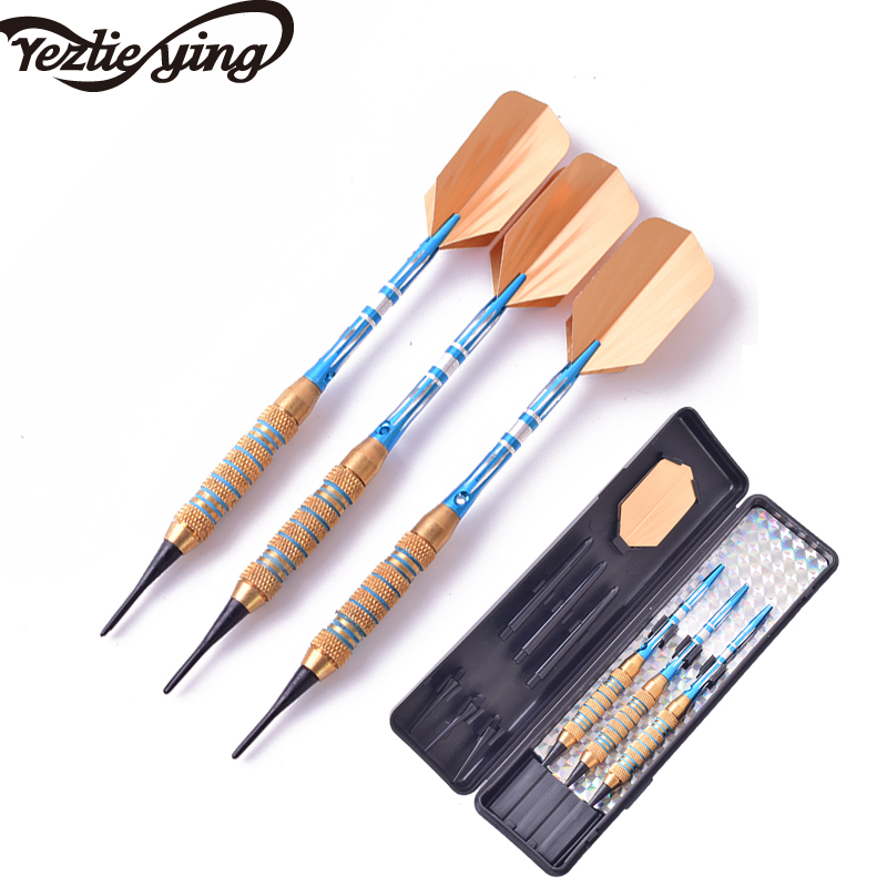 Humor New Yezlieying 3pc Professional Darts 18 Grams 20 Grams Yellow Blue Electronic Darts Aluminum Alloy Darts Clearance Price