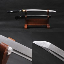 Delicate Home Decoration Handmade Japanese Vintage Wakizashi Damascus Samurai Sword Folded Steel Full Tang Durable Sharp Knife