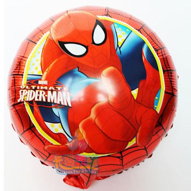 30 Teile/los 18 Inch Runde Spider Man Spiele Luftballons Geburtstag  Spiderman Party Dekoration Die