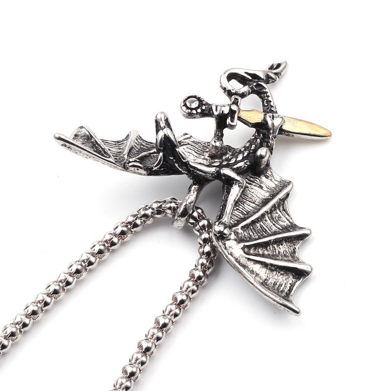 Game of Thrones Collier Dragon Colliers et Pendentifs Griffe tirer lépée