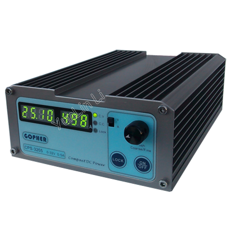 Precision Compact Digital Adjustable DC Power Supply OVP/OCP/OTP Low Power 32V 5A 110V-230V 0.01V/0.01A цена