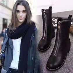 botas mujer 2018 women warm plush ankle boots round toe low heel martin boots ladies fashion snow boots australian boots