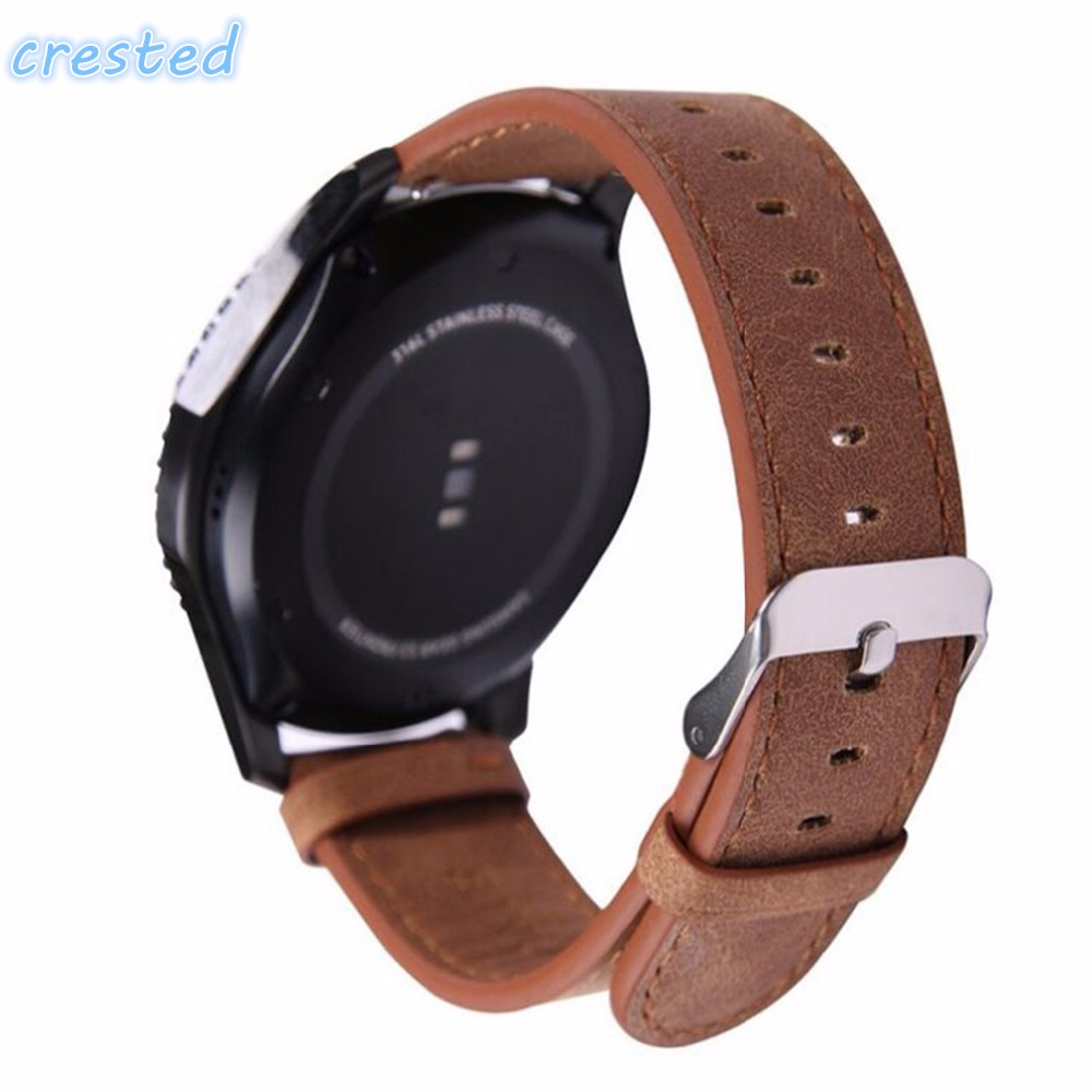 CRESTED Retro style Leather Watch strap & Link Bracelet Band for Samsung Gear S3 Frontier Strap For Gear S3 Classic 22 mm band crested sport silicone strap for samsung gear s3 classic frontier replacement rubber band watch strap for samsung gear s3