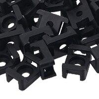 JFBL Hot Sale Black 9mm Cable Tie Mount Saddle Type Plastic Wire Bundle Holder