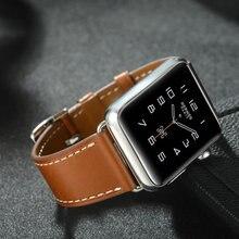 38 42 مللي متر شريط للرسغ ل أبل ووتش 4 جلد طبيعي حزام (استيك) ساعة حزام ل هيرم سوار ساعة يد آبل حزام (استيك) ساعة سلسلة 1 2 3 iwatch watchbands