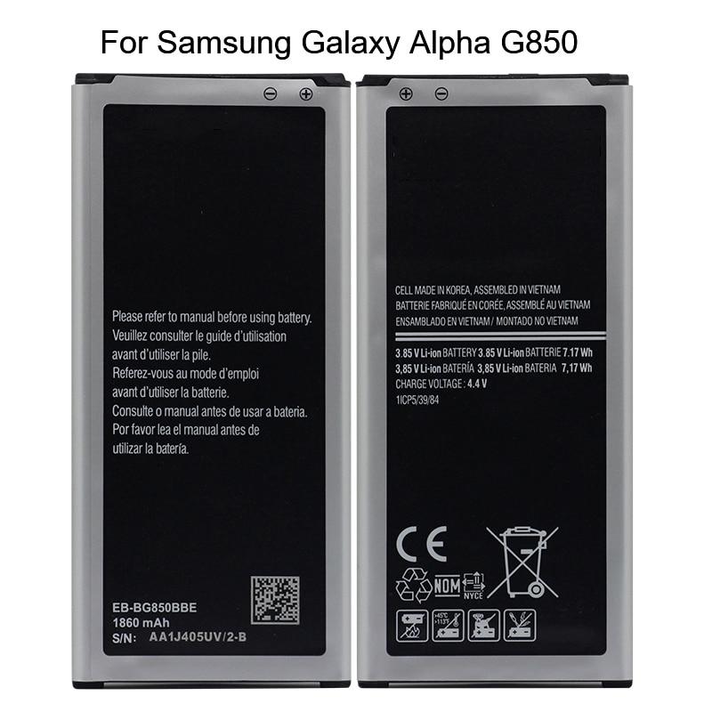 0fd2347dc7b Original EB-BG850BBE For Samsung Galaxy Alpha G850 G8508S G850M G8508 G850T  G850V G8 1860mAh Li-ion Replacement Battery