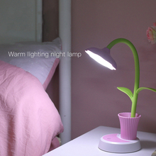 USB Chargeable LED Table Lamp 2 In 1  Sun Flower LED Desk Lamp with Pen Holder Children Reading Learning Eye Protect Nigh Lamp