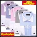 Бесплатная доставка Роскошный Итальянский 38-44 спрэд воротник XS-XXXXL полосатый французский манжеты рубашки для мужчин camisa QR-1149