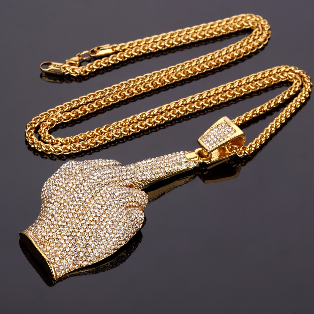 High Quality Big Hand Long Big Hip Hop Chains For Men -8829