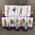 Full 9pcs Love Live MINAMI KOTORI SONODA UMI lovelive HOSHIZORA RIN TOJO NOZOMI with kimono PVC figure Toy Color box