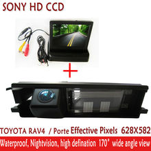 2.4HG HD SONY CCD car camera parking with 4.3 inch Foldable TFT LCD Auto Car RearView Mirror Monitor ,FOR TOYOTA RAV4 RAV-4 RAV4