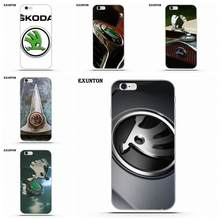 Coque souple joli Logo Skoda pour Apple iPhone 4 4 S 5 5C SE 6 6 S 7 8 Plus X pour Apple iPhone 4 4 S 5 5C SE 6 6 S 7 8 Plus X(China)