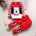 2016 outono nova roupa das crianças crianças terno menino moda algodão longo-sleeved two-piece suit crianças Coreanas