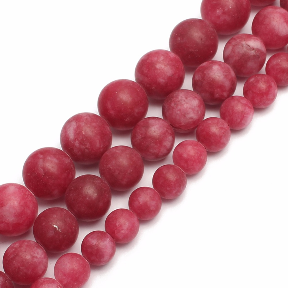 Aspiring Matte Red Chalcedony Stone Round Loose Beads For Jewelry Making Diy Bracelet Necklace 6/8/10mm Pick Size 15inches Fine Jewelry