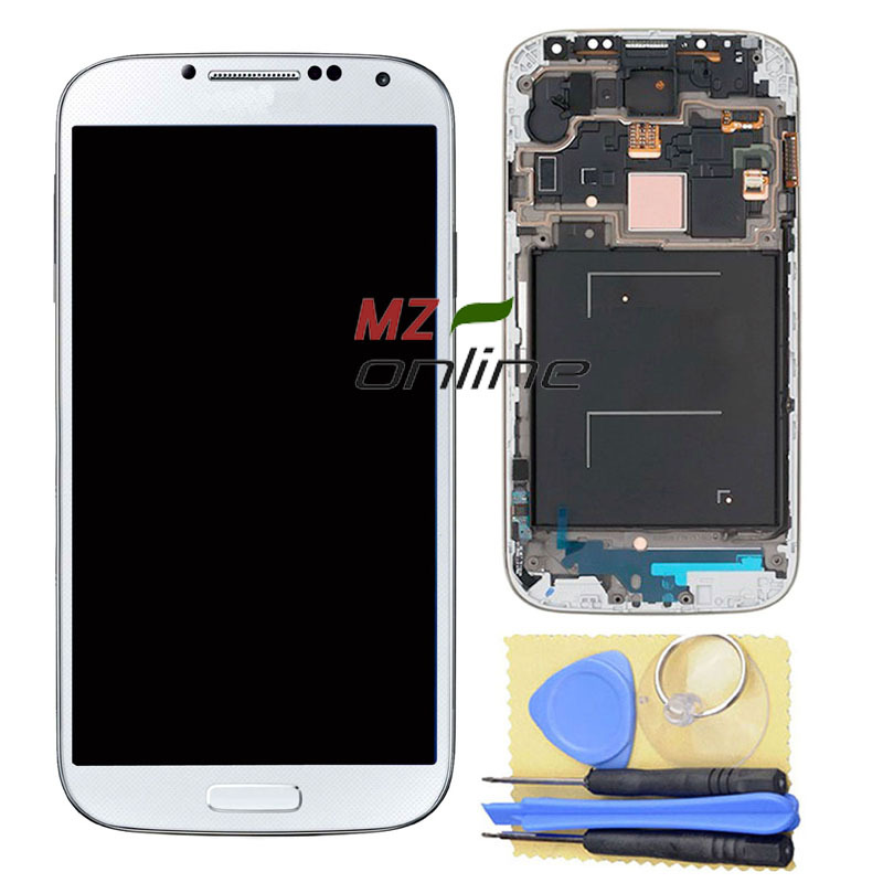 OEM For Samsung Galaxy S4 i9500 LCD Screen Digitizer +Touch Screen Digitizer with Frame Assembly White+Tools