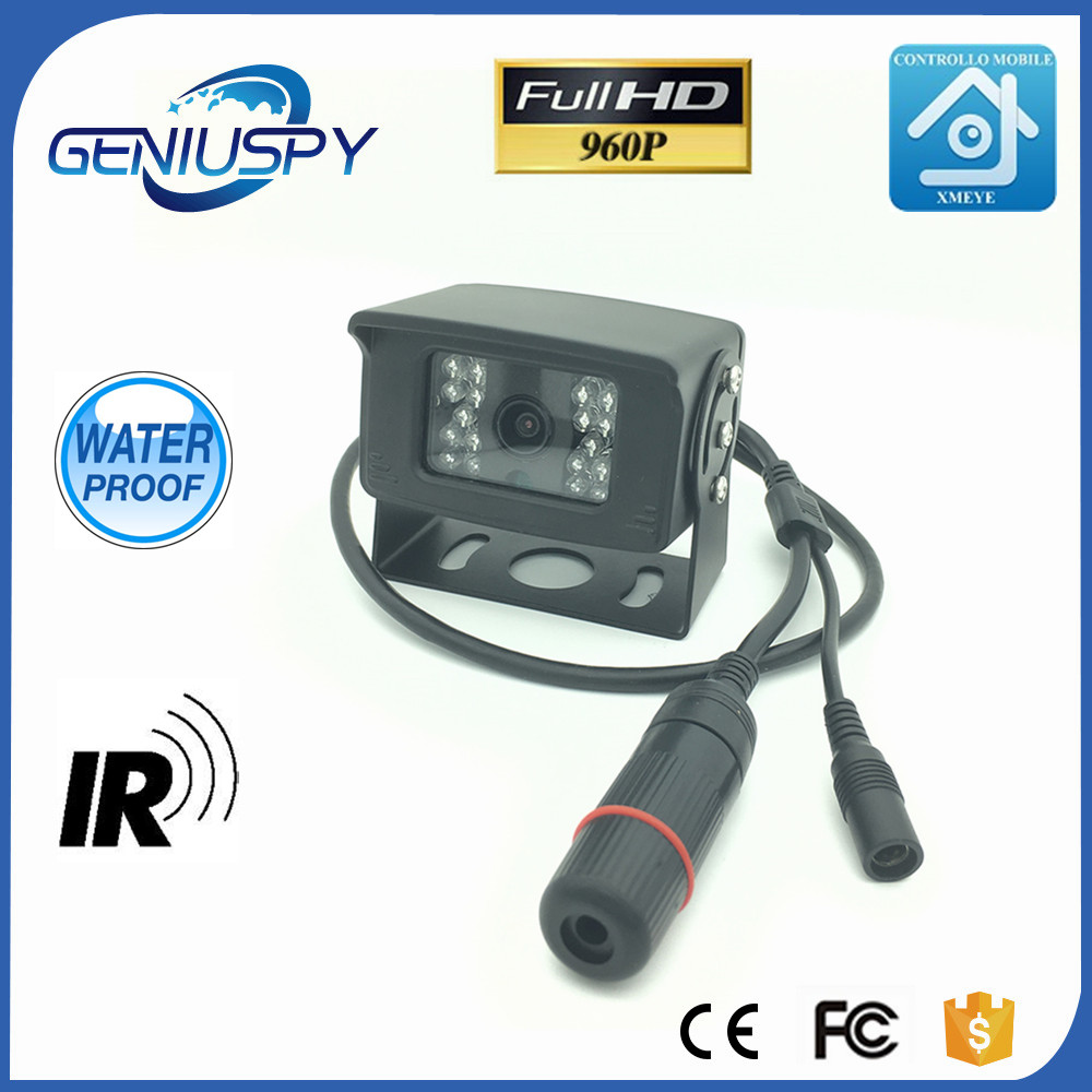 960P 1.3MP P2P Onvif IP Network Car Rear View Camera Reverse Backup Camera Rearview Parking IR Nightvision Waterproof Bus Truck ccd car reverse camera for ssangyong rexton kyron backup rear review reversing parking kit waterproof nightvision free shipping