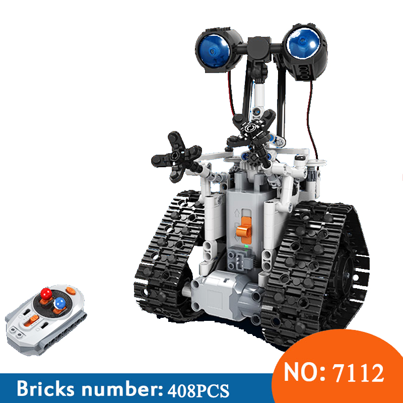 Winner 7112 Technic City Remote Control RC Bulldozer Electric designer Building Blocks Engineering 408pcs Toys For Childrn