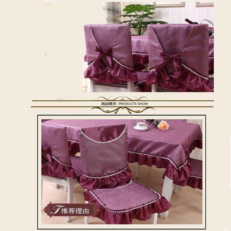 Tischdecke China Fuchsia Farbe Flanell Spitze Tischabdeckung - Haustextilien - Foto 3