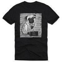 Mop Tattoo Mannen/Vrouwen T-shirt Herren Pug Hund Hond Amerika Rock Motorrad Rocker Biker Zomer Basic T-shirt Hoge Kwaliteit Maat S-3XL