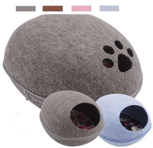 Яйцо стиль питомца щенок кошка котенок кровать Войлок натуральный кошачий наполнитель питомник ручная войлочная лапа стиль четыре цвета р