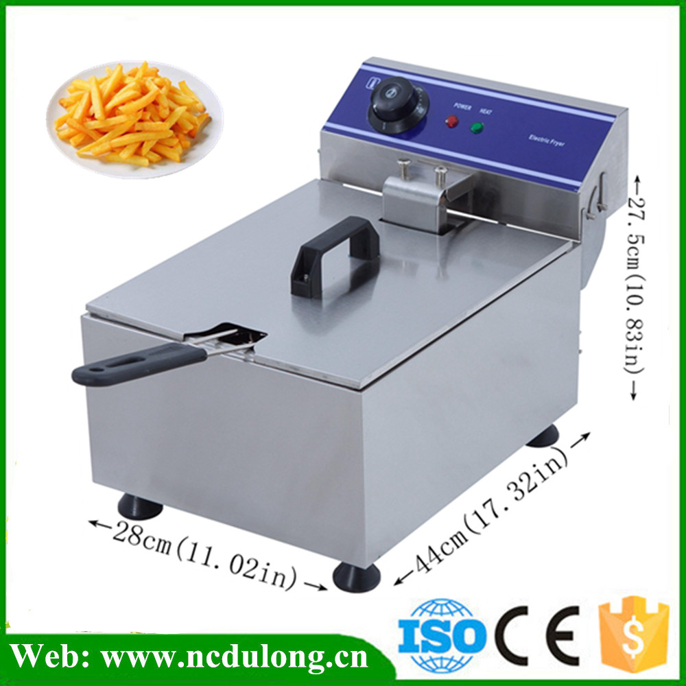 Free Shipping 1PC Electric Chicken Commercial Deep Fryer Special For Tornado Potato Spiral Potato Twiter Fryer shipule fast food restaurant 30l commercial electric chicken deep fryer commercial potato chips deep fryer frying machine