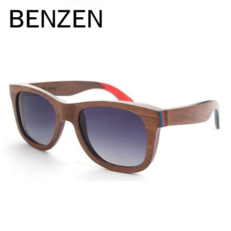 Polarized Wood Sunglasses Men Women Hand Made Vintage Wooden Frame Male Sun