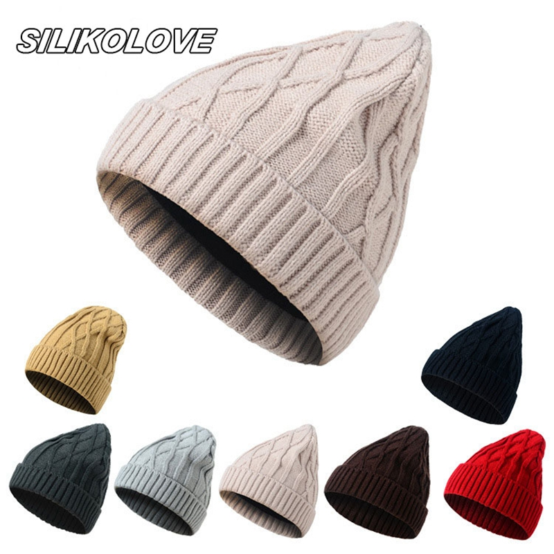 2019 Warm Women'S Winter Hats For Women Unisex Casual New Solid Ladies Knitted Hat Female   Beanie     Skullies     Beanies