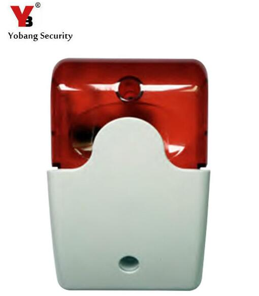 Yobang Security Wireless Indoor Flashing Siren For Alarm System Wireless Indoor Siren 433Mhz Strobe Siren For G90B etc. цена и фото
