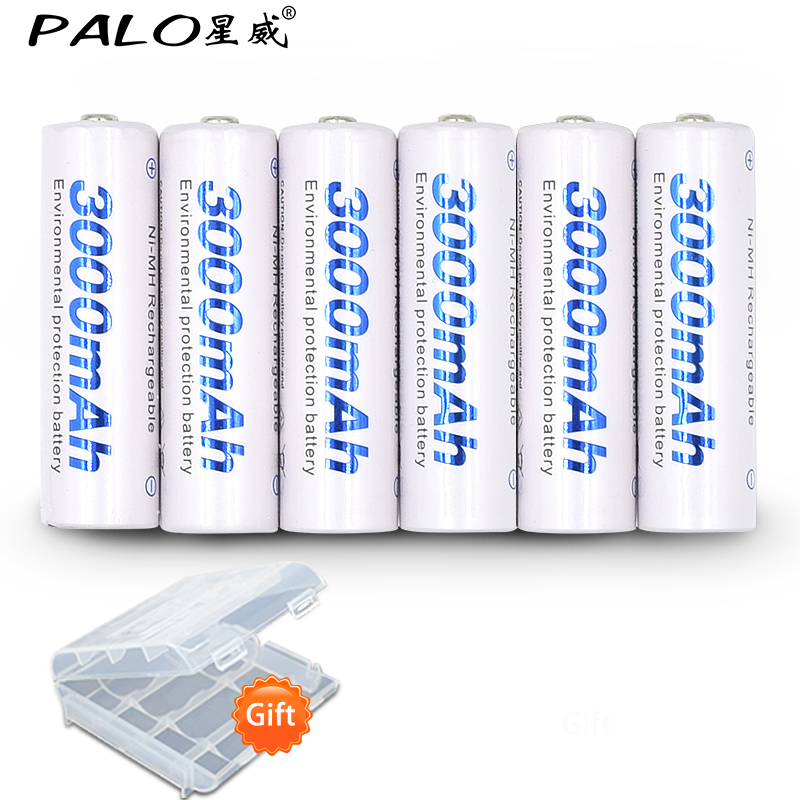6pcs 2a AA Battery Batteries 1.2V AA 3000mAh Ni-MH Pre-charged Rechargeable Battery 2A Baterias for Camera,clock and Razor 8pcs 2card pkcell aa rechargeable battery aa nimh 1 2v 2200mah ni mh 2a pre charged bateria rechargeable batteries for camera