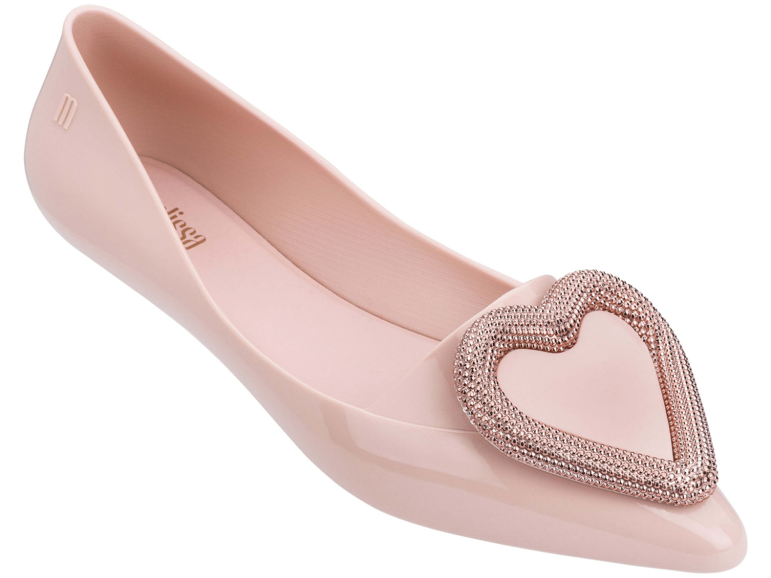 Flat Sandals Woman Shoes Low-Heel Heart Closed-Toe Melissa Women for Pointy