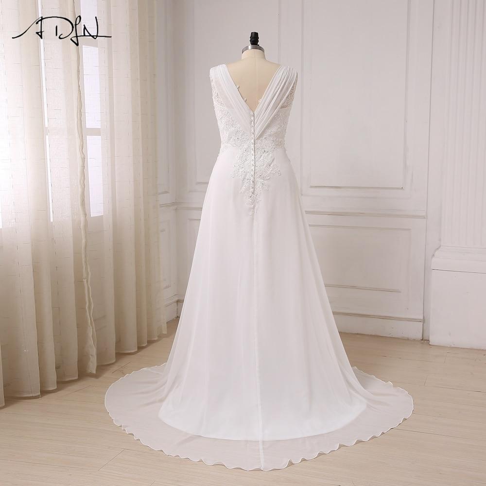 ADLN I lager Plus Storlek Bröllopsklänning Vit / Ivory Cap Sleeve - Bröllopsklänningar - Foto 2