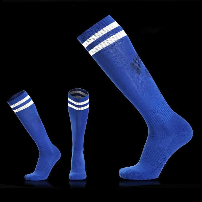 คุณภาพสูงฟุตบอลฟุตบอลถุงเท้าเด็กเด็กกีฬาผ้าขนหนูถุงเท้าบาสเกตบอล medias de futbol ขี่จักรยาน thicken sox non -ลื่น