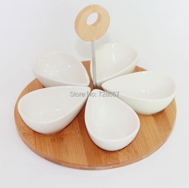 cermica creativa divisin epergne platos juego de vajilla de porcelana decorativa bandeja accesorios artesanales de