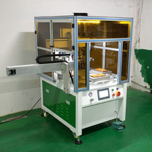 high precision 4 station with unload robot automatic rotary screen printing machine