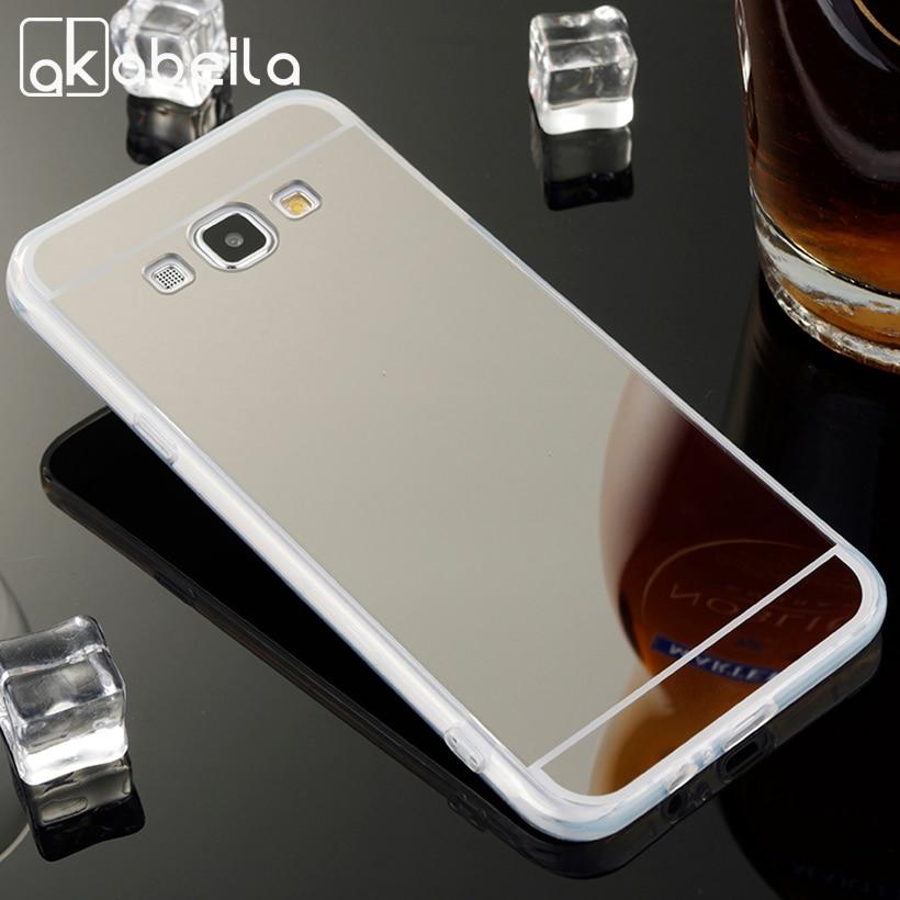 Телефон Охватывает Случаи Для Samsung Galaxy A8 A800 Случай Ультра тонкий ТПУ Зеркало A8 A8000 A800F A8009 5.7 Дюймов Обложки Вернуться Кожи мешки