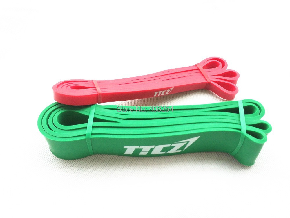 2PCS POWER RESISTANCE EXERCISE RUBBER BANDS TUBE STRENGTH CROSSFIT - Fitness and Bodybuilding