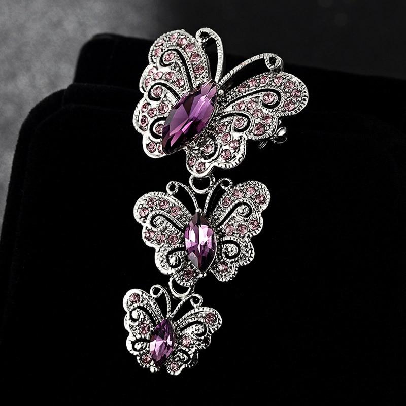 Fashion Women Fancy Vintage Rhinestone Crystal Bear Brooch Pin for Party