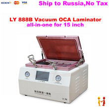 (Russain no tax!) 15 inch oca lamination machine LY 888B built in bubble remover with S6 S6+ S7 NOTE4 EDGE OCA moulds