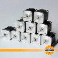 free Germany ship to EU, Reprap 10pcs 4 lead nema 17 stepper motor 48mm 2.5A/ 70oz in,CE for 3D, 5D printer