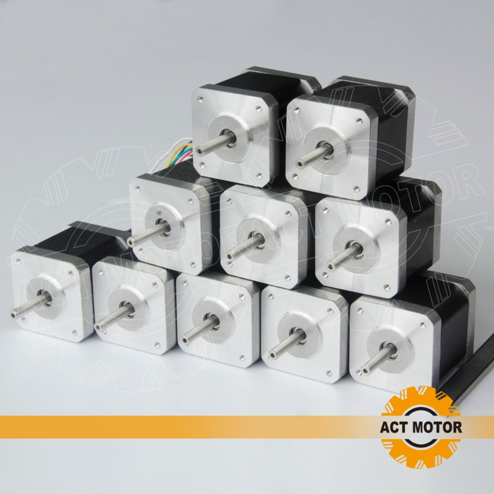 free Germany ship to EU, Reprap 10pcs 4 lead nema 17 stepper motor 48mm 2.5A/ 70oz in,CE for 3D, 5D printer
