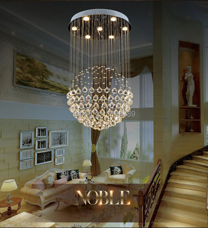 Aliexpress Buy Modern LED Crystal Chandelier Living Room Bedroom Lamp Creative Restaurant K9 Cystal Hanging Wire Ball From