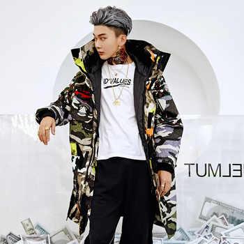 Autumn Winter Loose Baggy Coat Camouflage Men Casual Jacket Warm Windbreaker OUTWEAR Parka Male Clothing
