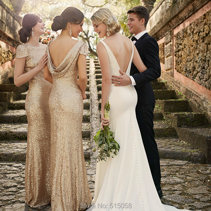 Online Get Cheap Champagne Sparkly Bridesmaid Dress -Aliexpress ...