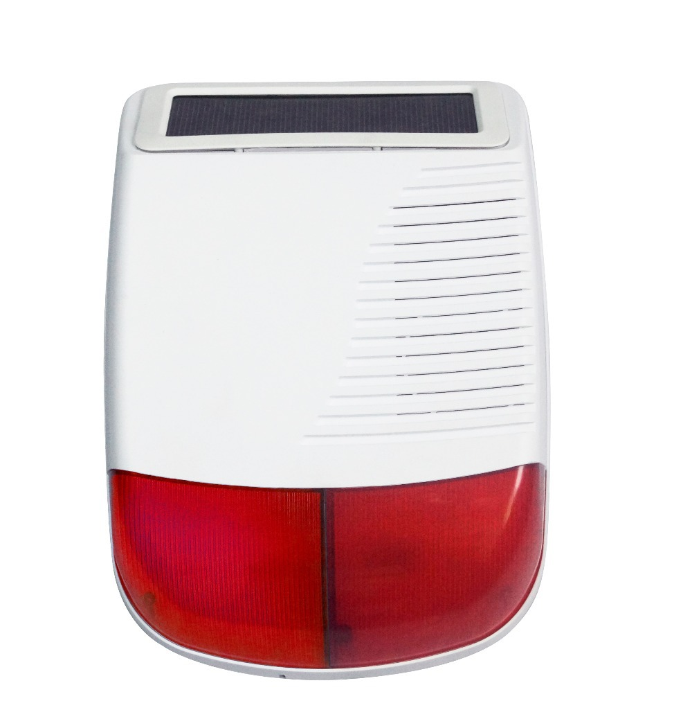 433Mhz wireless outdoor Solar strobe Siren for G9 wifi GSM alarm System high quality solar spot alarm system kit 433mhz wireless outdoor siren with bright flash to make powerful warning